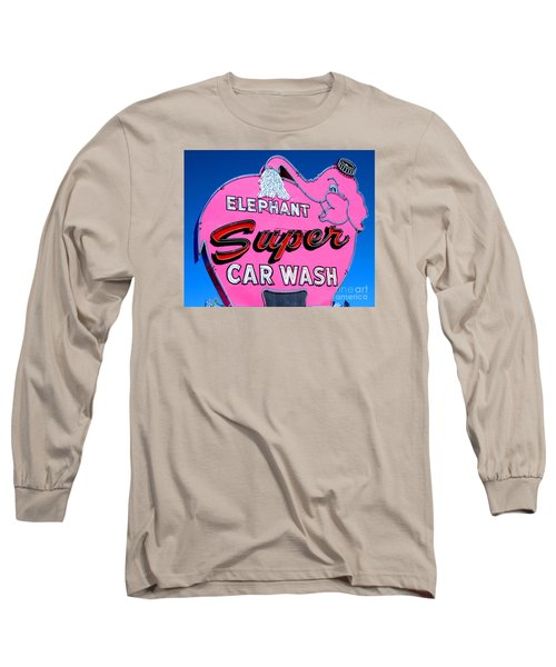 Elephant Super Car Wash Sign Seattle Washington Long Sleeve T-Shirt