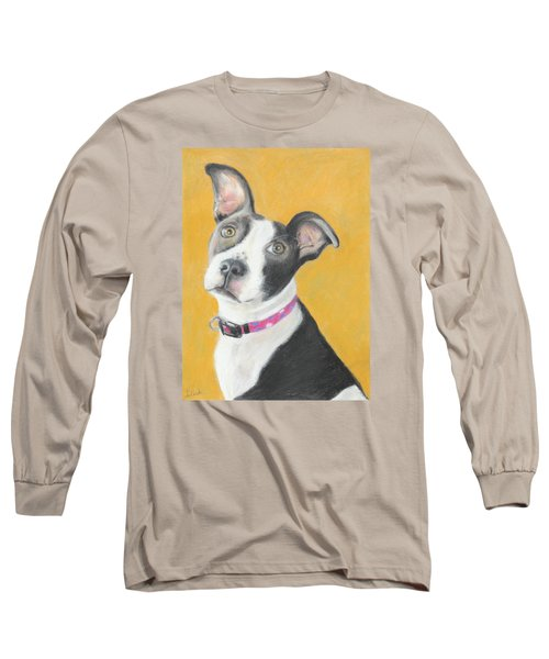 Rescued Pit Bull Long Sleeve T-Shirt by Jeanne Fischer