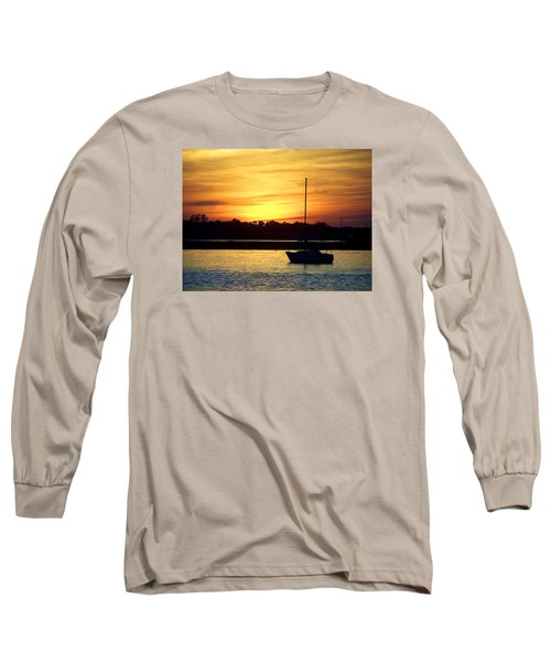 Long Sleeve T-Shirt featuring the photograph Resting In A Mango Sunset by Sandi OReilly