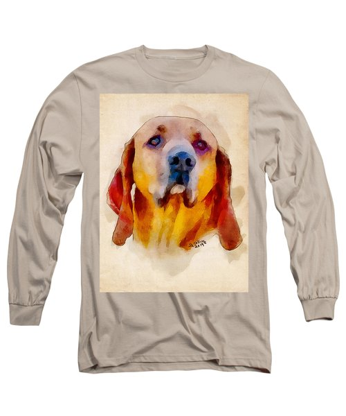 Long Sleeve T-Shirt featuring the painting Retriever by Greg Collins