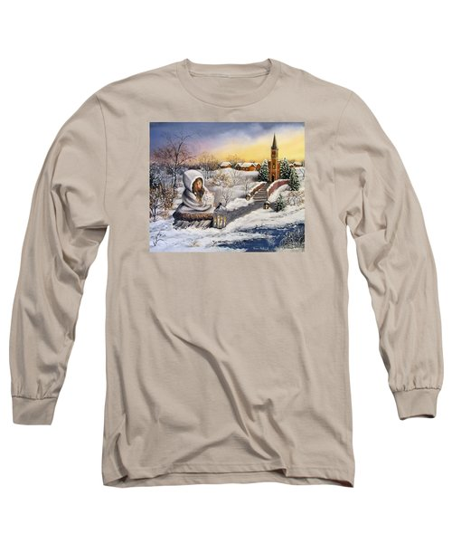 Long Sleeve T-Shirt featuring the painting Return by Vesna Martinjak