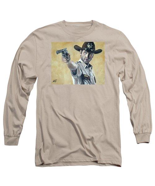 Rick Grimes Long Sleeve T-Shirt by Tom Carlton