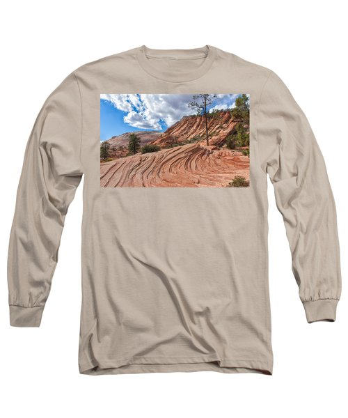 Long Sleeve T-Shirt featuring the photograph Rippled Rock At Zion National Park by John M Bailey