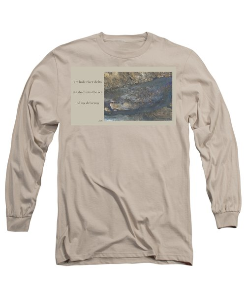Long Sleeve T-Shirt featuring the digital art River Delta Haiga by Judi and Don Hall