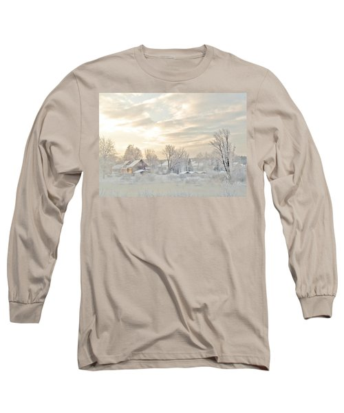 River Mist On A Very Cold New Hampshire Morning Long Sleeve T-Shirt