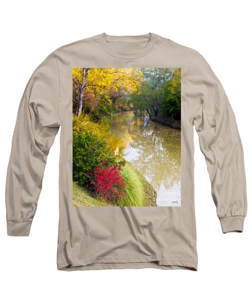 River With Autumn Colors Long Sleeve T-Shirt