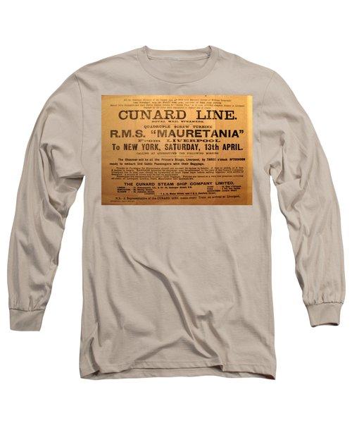 Rms Mauretania 1912 Long Sleeve T-Shirt