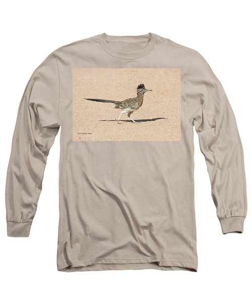Road Runner On The Road Long Sleeve T-Shirt by Tom Janca
