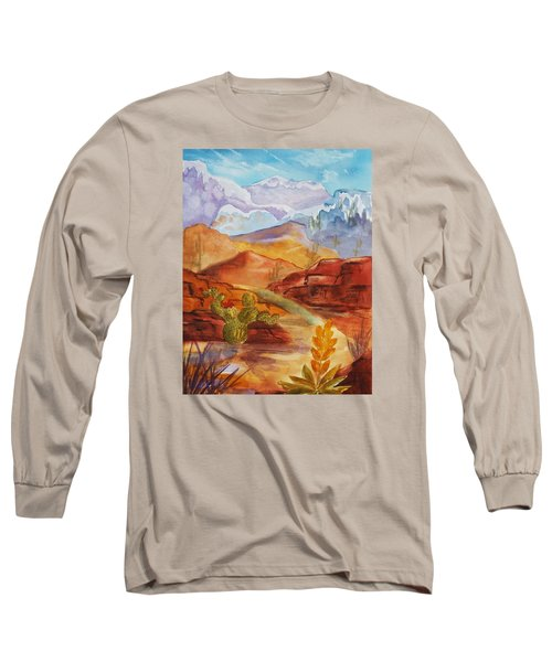 Long Sleeve T-Shirt featuring the painting Road To Nowhere by Ellen Levinson