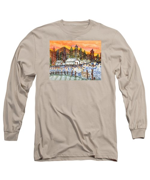 Long Sleeve T-Shirt featuring the painting Road To The Oregon Coast by Connie Valasco