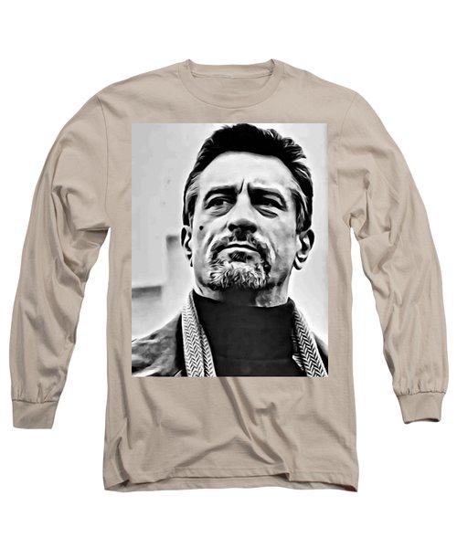 Robert De Niro Portrait Long Sleeve T-Shirt