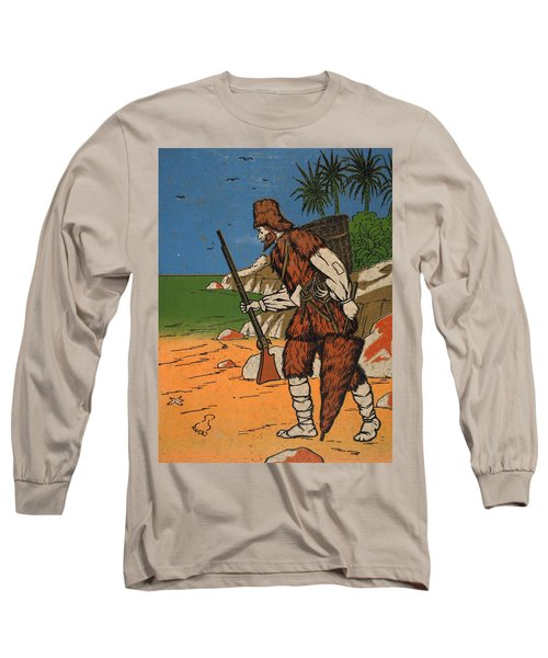 Robinson Crusoe, Illustration From The Long Sleeve T-Shirt