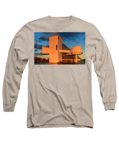 Rock And Roll Hall Of Fame Long Sleeve T-Shirt by Jerry Fornarotto