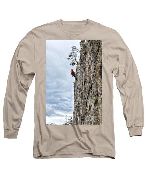 Long Sleeve T-Shirt featuring the photograph Rock Climber by Carsten Reisinger