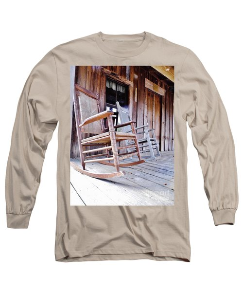 Rocking On The Front Porch Long Sleeve T-Shirt by D Hackett