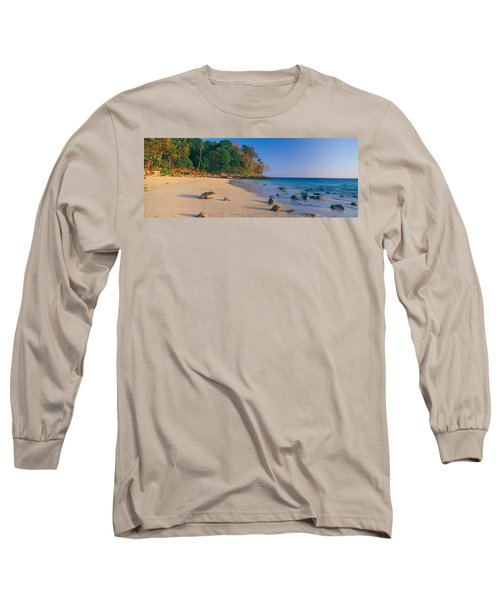 Rocks On The Beach, Phi Phi Islands Long Sleeve T-Shirt
