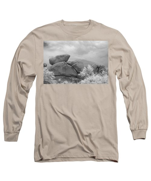 Rocks Under Ir Sky Long Sleeve T-Shirt by Michael McGowan