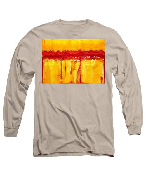 Rocky Mountains Original Painting Long Sleeve T-Shirt by Sol Luckman
