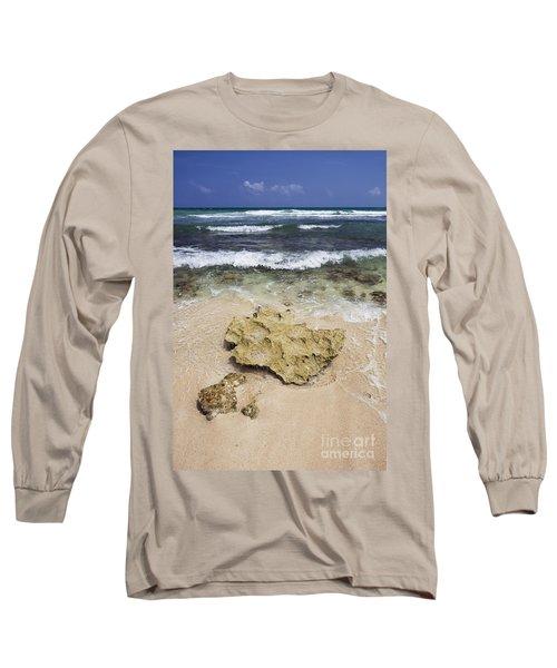 Rocky Shoreline In Tulum Long Sleeve T-Shirt