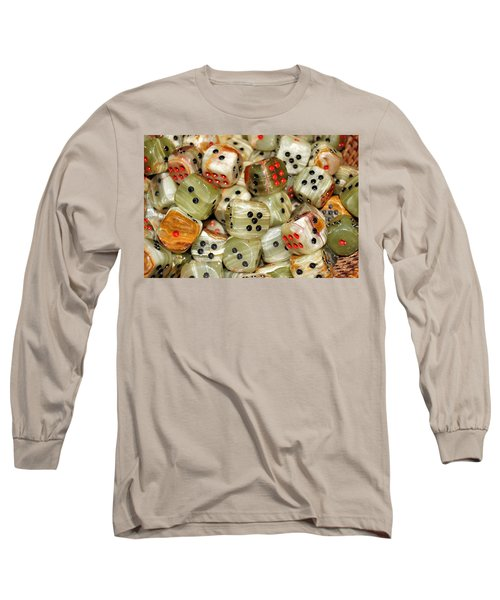 Long Sleeve T-Shirt featuring the photograph Roll The Dice by Jean Goodwin Brooks