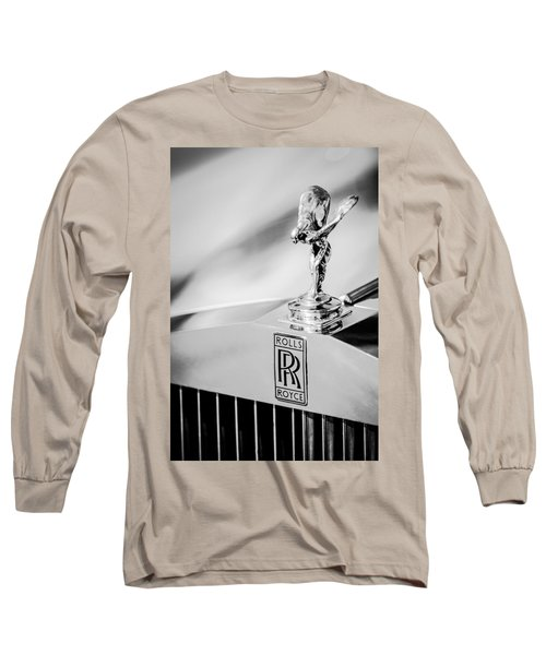 Rolls-royce Hood Ornament -782bw Long Sleeve T-Shirt