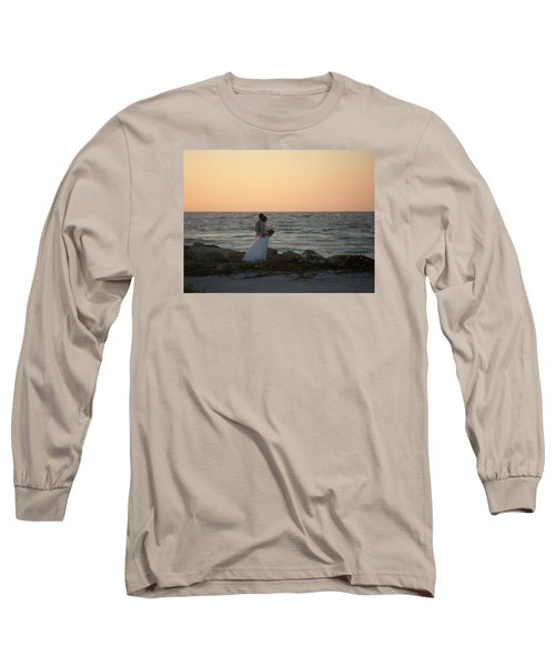 Romance In Captiva Long Sleeve T-Shirt by Val Oconnor