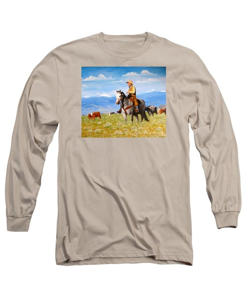 Ron And  Cash At Work Long Sleeve T-Shirt