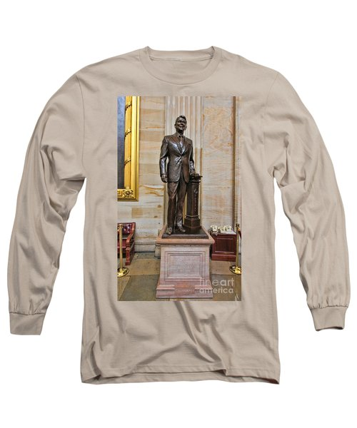 Ronald Regan -  U S Capitol Statuary Hall Long Sleeve T-Shirt