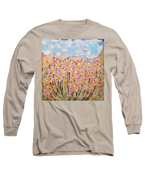 Rosa Ruby Flower Garden Long Sleeve T-Shirt