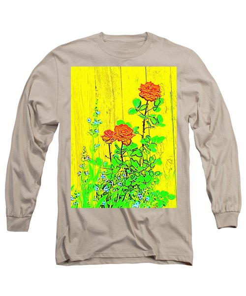 Rose 9 Long Sleeve T-Shirt by Pamela Cooper