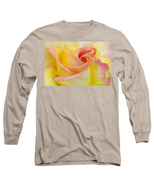 Rose Bud Opening Long Sleeve T-Shirt by Lana Enderle