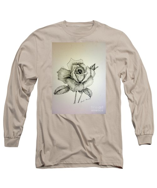 Rose In Monotone Long Sleeve T-Shirt