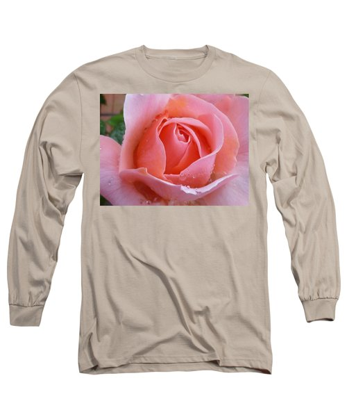 Long Sleeve T-Shirt featuring the photograph Rose In The Rain by Lingfai Leung