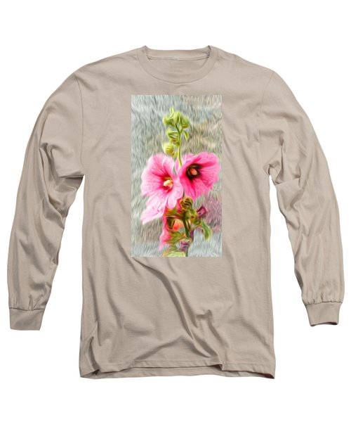 Rose Of The North Abstract. Long Sleeve T-Shirt