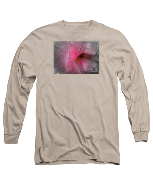 Long Sleeve T-Shirt featuring the photograph Rose Voluptuous by Jean OKeeffe Macro Abundance Art