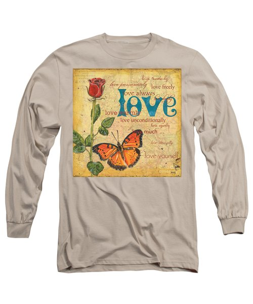 Roses And Butterflies 2 Long Sleeve T-Shirt