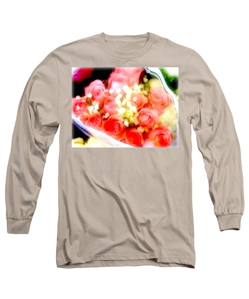 Long Sleeve T-Shirt featuring the photograph Roses Are Red. by Ira Shander