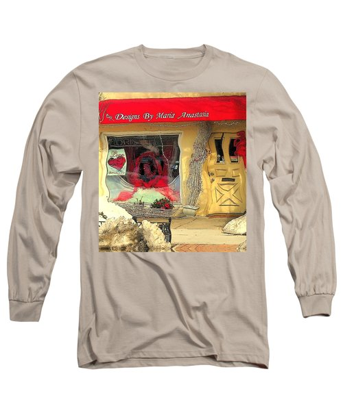 Rouge On The Rue Long Sleeve T-Shirt by Tami Quigley