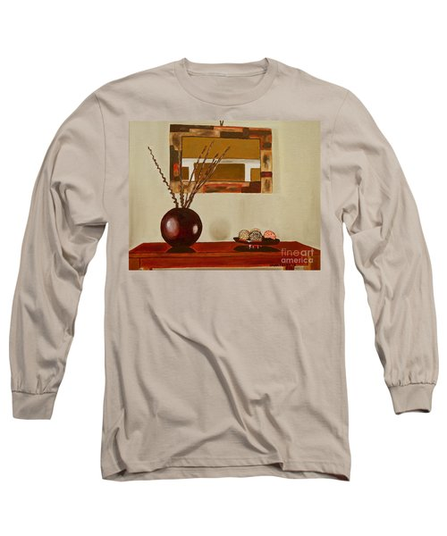 Round Vase Long Sleeve T-Shirt by Laura Forde