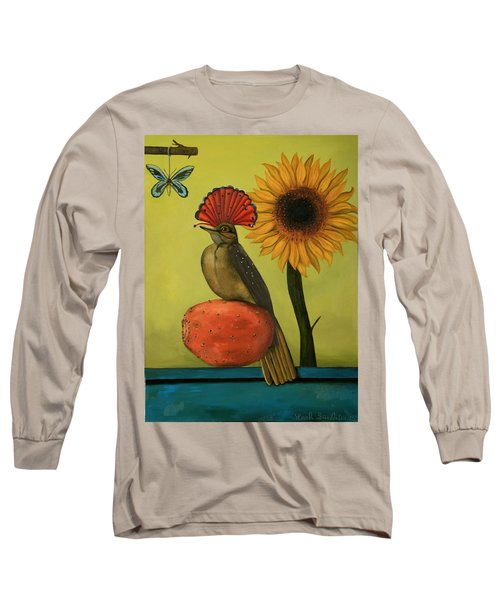 Royal Flycatcher  Long Sleeve T-Shirt by Leah Saulnier The Painting Maniac