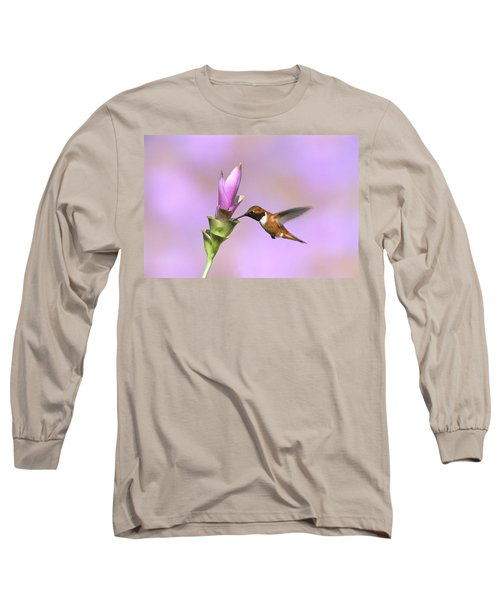 Rufous Hummingbird Male Feeding Arizona Long Sleeve T-Shirt