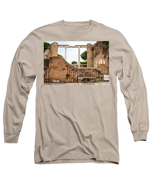 Ruins Of Ostia Antica Long Sleeve T-Shirt