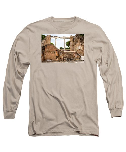 Ruins Of Ostia Antica Long Sleeve T-Shirt