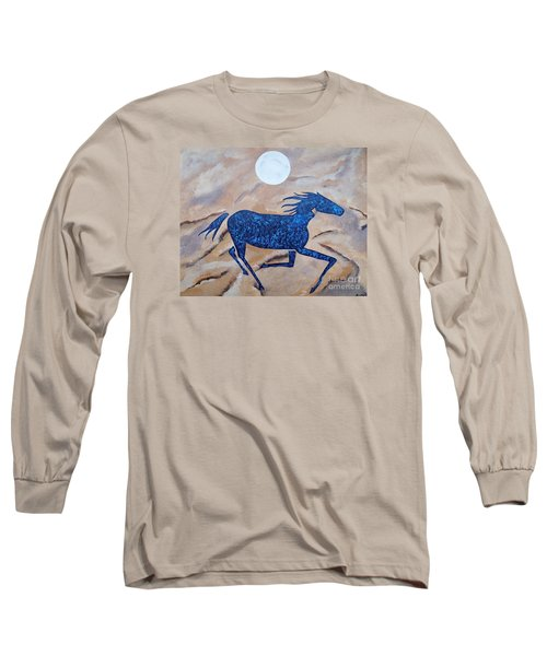 Running With The Moon Long Sleeve T-Shirt