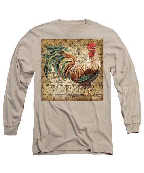 Rustic Rooster-jp2120 Long Sleeve T-Shirt