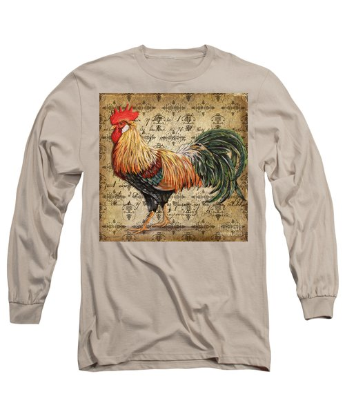 Rustic Rooster-jp2121 Long Sleeve T-Shirt