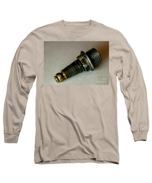 Long Sleeve T-Shirt featuring the photograph Rusty Old Spark Plugs by Wilma  Birdwell