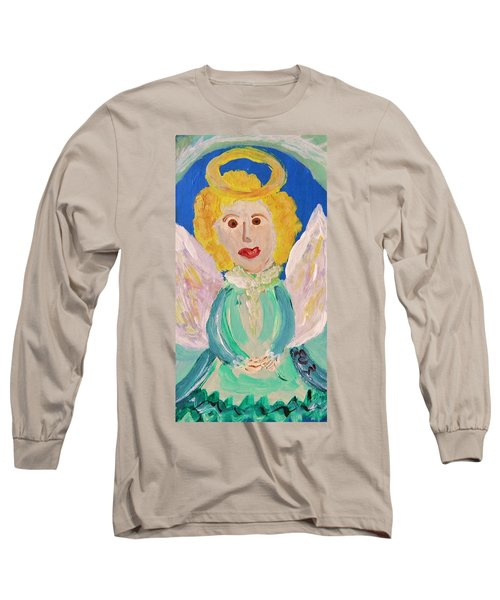 Long Sleeve T-Shirt featuring the painting Ruth E. Angel by Mary Carol Williams