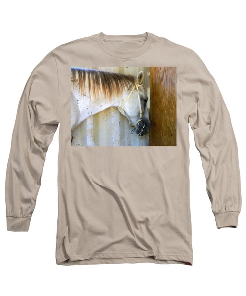 Long Sleeve T-Shirt featuring the photograph Saddle Break by Kathy Barney
