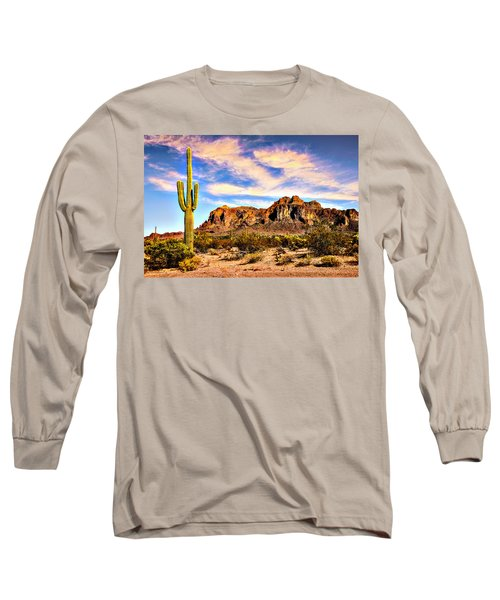 Saguaro Superstition Mountains Arizona Long Sleeve T-Shirt